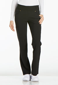 Cherokee Mid Rise Straight Leg Pull-on Pant Black (CK002-BLK)