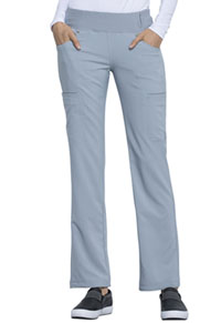 Cherokee Mid Rise Straight Leg Pull-on Pant Grey (CK002-GRY)