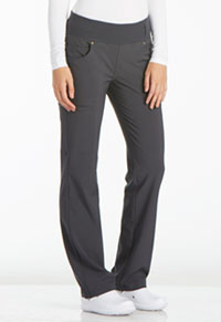 Cherokee Mid Rise Straight Leg Pull-on Pant Pewter (CK002-PWT)