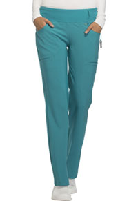 Cherokee Mid Rise Straight Leg Pull-on Pant Teal Blue (CK002-TLB)