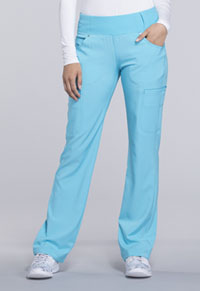 Cherokee Mid Rise Straight Leg Pull-on Pant Turquoise (CK002-TRQ)