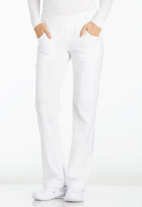 Mid Rise Straight Leg Pull-on Pant (CK002-WHT)
