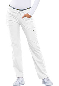 Luxe Sport Mid Rise Straight Leg Pull-on Pant (CK003-WHTV) (CK003-WHTV)