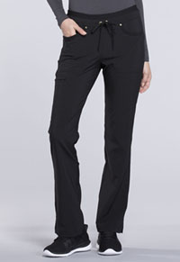 Mid Rise Tapered Leg Drawstring Pants (CK010P-BLK)