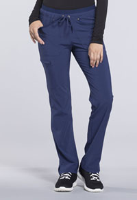 Mid Rise Tapered Leg Drawstring Pants (CK010P-NAV)