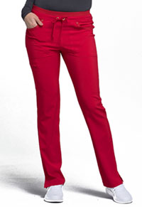 Mid Rise Tapered Leg Drawstring Pants (CK010P-RED)