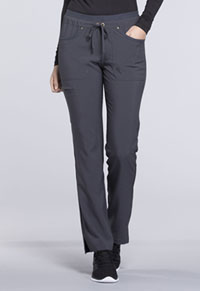 Mid Rise Tapered Leg Drawstring Pants (CK010T-PWT)