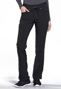Mid Rise Tapered Leg Drawstring Pants (CK010-BLK)