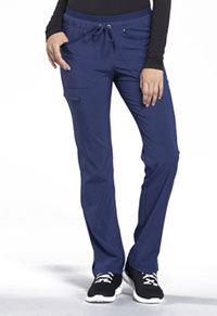 Mid Rise Tapered Leg Drawstring Pants (CK010-NAV)