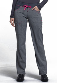 Low Rise Straight Leg Drawstring Pant (CK030AP-HTGR)