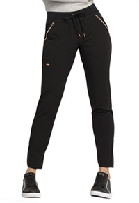 Statement Mid Rise Straight Leg Drawstring Pants (CK055-BLK) (CK055-BLK)