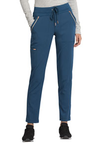 Mid Rise Straight Leg Drawstring Pants Caribbean Blue (CK055-CAR)
