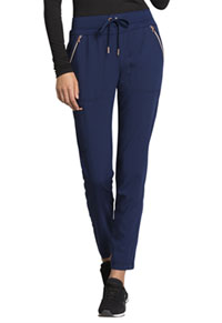 Statement Mid Rise Straight Leg Drawstring Pants (CK055-NAV) (CK055-NAV)