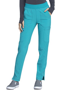 Cherokee Mid Rise Tapered Leg Pull-on Pant Teal Blue (CK065A-TLPS)