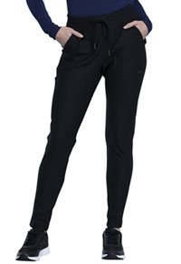 Cherokee Form Mid Rise Tapered Leg Drawstring Pant (CK090P-BLK) (CK090P-BLK)