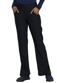 Cherokee Form Mid Rise Moderate Flare Leg Pull-on Pant (CK091-BLK) (CK091-BLK)