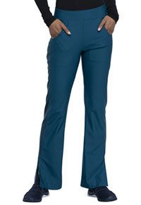 Cherokee Mid Rise Moderate Flare Leg Pull-on Pant Caribbean Blue (CK091-CAR)