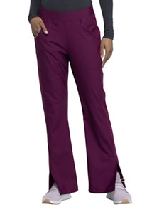 Cherokee Mid Rise Moderate Flare Leg Pull-on Pant Wine (CK091-WIN)