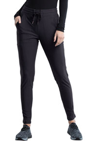 Cherokee Form Mid Rise Tapered Leg Drawstring Pant (CK095-PWT) (CK095-PWT)