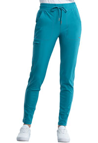 Cherokee Mid Rise Tapered Leg Drawstring Pant Teal Blue (CK095-TLB)