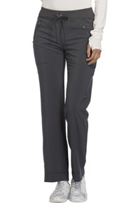 Cherokee Mid Rise Tapered Leg Drawstring Pants Pewter (CK100AT-PWPS)