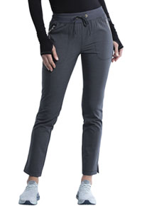 Cherokee Mid Rise Tapered Leg Drawstring Pant Heather Charcoal (CK135A-HTCH)