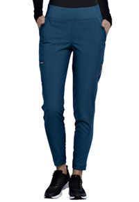 Cherokee Mid-Rise Tapered Leg Pull-on Pant Caribbean Blue (CK175-CAR)