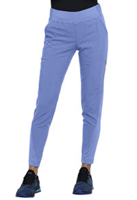 Cherokee Mid-Rise Tapered Leg Pull-on Pant Ciel Blue (CK175-CIE)
