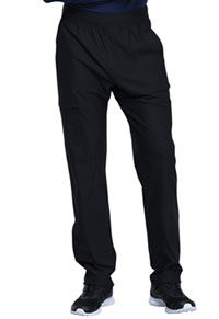 Cherokee Men's Tapered Leg Pull-on Pant Black (CK185-BLK)
