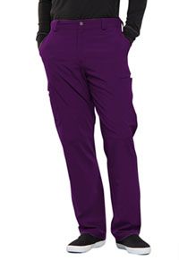 Cherokee Men's Fly Front Pant Eggplant (CK200AT-EGG)