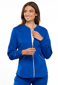Cherokee Zip Front Warm-up Jacket Galaxy Blue (CK300-GABV)