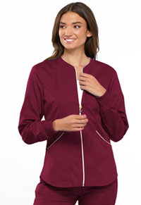 Cherokee Zip Front Warm-up Jacket Wine (CK300-WINV)