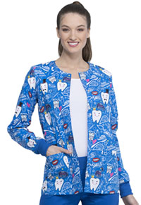 Cherokee Prints Snap Front Warm-up Jacket (CK301-BITH) (CK301-BITH)