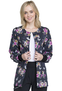Cherokee Snap Front Warm-up Jacket Butterflies And Blossoms (CK301-BUTE)