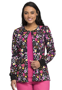 Cherokee Prints Snap Front Warm-up Jacket (CK301-DDCA) (CK301-DDCA)