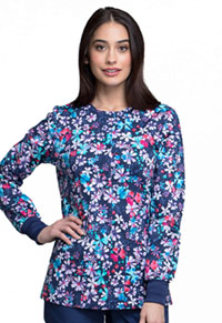 Cherokee Snap Front Warm-up Jacket Floral Blast (CK301-FBLT)