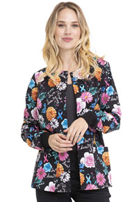 Cherokee Prints Snap Front Warm-up Jacket (CK301-LVBA) (CK301-LVBA)