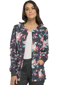 Cherokee Snap Front Warm-up Jacket Of Grace and Beauty (CK301-OFGB)