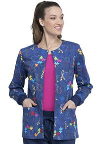 Cherokee Prints Snap Front Warm-up Jacket (CK301-PYHT) (CK301-PYHT)
