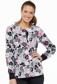 Cherokee Prints Snap Front Warm-up Jacket (CK301-PYLV) (CK301-PYLV)