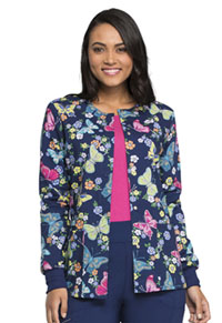 Cherokee Prints Snap Front Warm-up Jacket (CK301-TYWG) (CK301-TYWG)