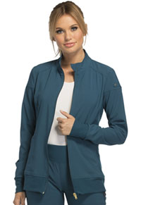 Cherokee Zip Front Warm-Up Jacket Caribbean Blue (CK303-CAR)