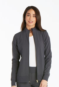 Cherokee Zip Front Warm-Up Jacket Pewter (CK303-PWT)