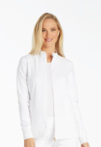 Cherokee Zip Front Warm-Up Jacket White (CK303-WHT)