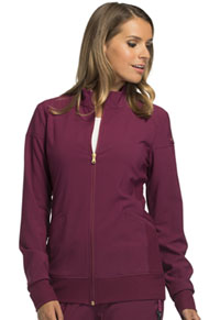 Cherokee Zip Front Warm-Up Jacket Wine (CK303-WIN)