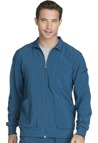 Cherokee Men's Zip Front Warm-up Jacket Caribbean Blue (CK305A-CAPS)