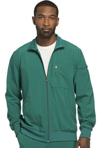 Cherokee Men's Zip Front Warm-up Jacket Hunter Green (CK305A-HNPS)