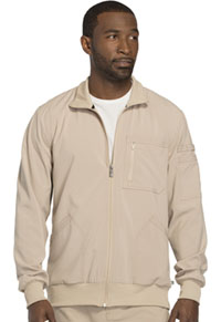 Cherokee Men's Zip Front Warm-up Jacket Khaki (CK305A-KAK)