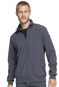 Cherokee Men's Zip Front Warm-up Jacket Pewter (CK305A-PWPS)