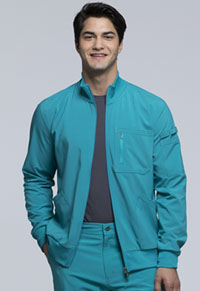 Cherokee Men's Zip Front Jacket Teal Blue (CK305A-TLPS)